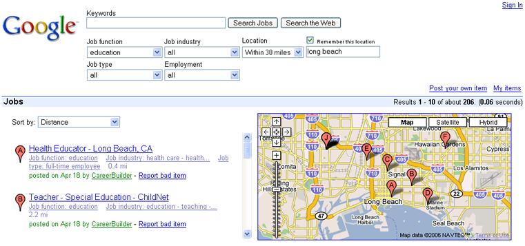 Googlejobsintegrationresults